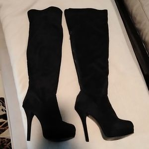 Kardashian Collection suede boots